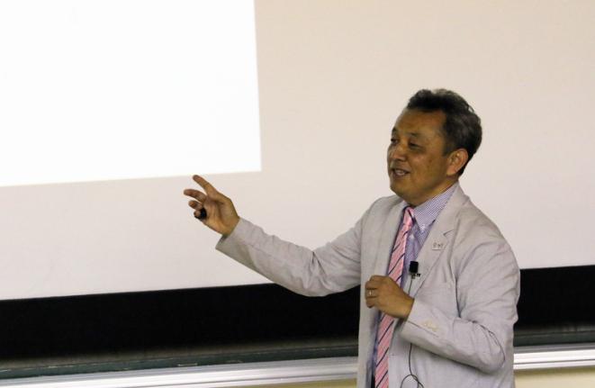 国際武道大学の講義風景の画像